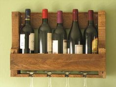 Recycled Pallet Wine Rack | 101 Pallets