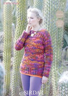 Sirdar Divine Sweater Crochet Pattern 7328