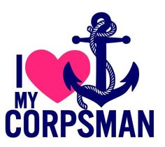 I Love My Corpsman Car Decal - Navy - Corpsman - Military wife, girlfriend, mom by #delightdesignsvinyl on #Etsy