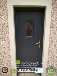Contemporary Italia, Solidor Composite Doors by Timber Composite Doors are brought to you with our Italia Range of Timber Core Doors. Italia doors emanate modern Italian elegance that is fused with British craftsmanship. Main Entrance, Entrance Doors, Garage Doors, Front Doors With Windows, Door Images, Composite Door, External Doors, Free Credit, Contemporary