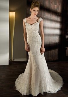 Check out this #weddingdress: 1424 by Demetrios via iPhone #TheKnotLB from #TheKnot
