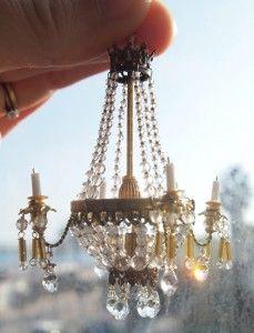 Charming simplicity dollhouse amber beaded chandelier jolani chandelier for dollshouse aloadofball Choice Image
