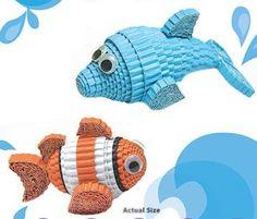 Dolphin & Fish 3D Miniature Quilling Kit Ripple and Roll a dolphin and fish 3D miniatures. www.customquilling.com