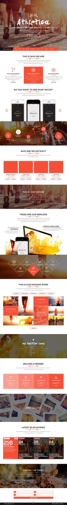 Athletica - Retina Parallax OnePage WP Shop Theme #html5themes