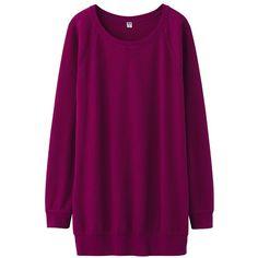UNIQLO Women Light Sweat Long Sleeve Tunic ($20) ❤ liked on Polyvore featuring tops, tunics, sweaters, dresses, shirts, tunic, uniqlo shirts, layering shirts, ribbed shirt and 3/4 sleeve shirts