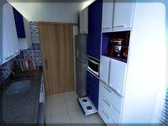 2- cozinha azul e branca