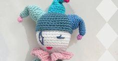 amigurum,arlequín, muñeco tejido a mano,anigurumis,crochet,patrón gratis