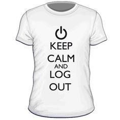 Maglietta personalizzata Keep Calm and Log Out