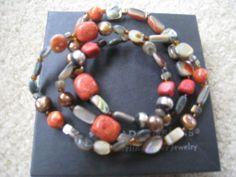 coral accent bracelet