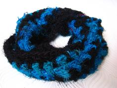 Crochet Pattern Chunky Sari Silk Neckwarmer by MandalaYarn, or Free with any Yarn purchase. Designed for use with any of our Sari Silk / Banana Silk / Blended Yarns Ribbon Yarn, Sari Silk, Yarn Needle, Neck Warmer, Yarn Crafts, Yarns, Free Crochet, Free Pattern, Crochet Patterns
