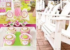 Preppy-francés-Open-Inspired TENIS-Party-toppers