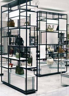 Display shelving by Yabu Pushelberg Retail Store Design, Retail Shop, Display Shelves, Shelving, Display Ideas, Online To Offline, Shop Fittings, Retail Interior, Retail Space