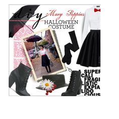 Mary Poppins by ultracake on Polyvore featuring mode, Morgan, Chicwish, Fulton, diycostume and Halloween2015