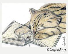 "Black Cat Animal ACEO Print /""Daylight/"" By V Kenworthy"