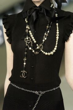 Chanel Chic. I have a knock-off top that I've been trying to figure out how to style forever.