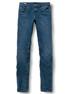 Polka dot jeans . . . it's about time!