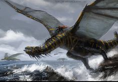 Monster and Beasts Dragon (concept art) Curious Creatures, Wild Creatures, Fantasy Creatures, Mythical Creatures, Dark Fantasy, Fantasy Art, Dragon Artwork, Landscape Concept, Dragon Pictures