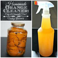 DIY Homemade Orange Cleaner: Easy & Chemical-Free! All for the green alternative stuff (:
