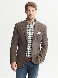 Tailored-Fit Brown Donegal Blazer #BananaRepublic #EastwoodPinPals