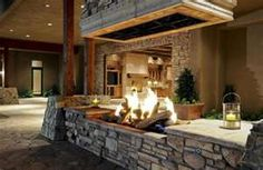 Another great example of what I want my indoor fire pit to look like.