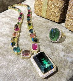 Celebrating the season in every shade of #tourmaline #luxe #glamour #showstopper #couture #thisiscouture #jordanalexanderjewelry