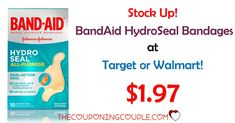 PRINT NOW! There is a new Band Aid coupon to print! Stock up on the Band Aid Hydro Seals for only $1.97 at Walmart and Target! Get the coupon printed before it is gone!  Click the link below to get all of the details ► http://www.thecouponingcouple.com/band-aid-hydro-seal-bandages/ #Coupons #Couponing #CouponCommunity  Visit us at http://www.thecouponingcouple.com for more great posts!
