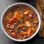 This is a nice warming soup on a chilly day. Lentils are so good for you, too! —Mary Smith, Columbia, Missouri Barley Soup, Lentil Soup, Korma, Biryani, Black Bean Soup, Wild Rice Soup, Thing 1, Vegetarian Soup, Cabbage Soup