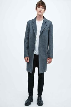 Gloverall Chesterfield Coat in Grey