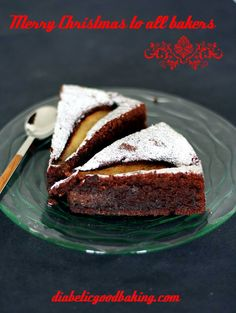 Diabetic Good Baking: Chocolate Cake with Pears