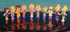 Super RARE 90's Polly Pocket 10 Dolls promo pak STYLE B  Mattel Bluebird #Mattel #Dolls