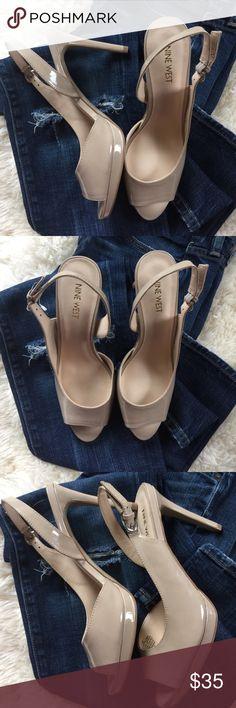 Nine West size 7.5 nude heels Nine West size 7.5 need perfect heels Nine West Shoes Heels