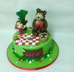Masha e orso  - Cake by Donatella Bussacchetti