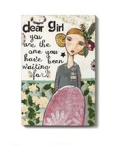 Dear Girl Wall Art - Home decor 4 Seasons