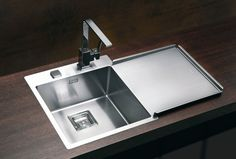 Stylux Single Kitchen Sink with Drainer, Alveus UK