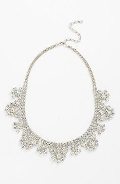 Flawless! Sparkly Scalloped Collar Necklace