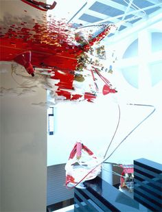 "Hey Caroline, this is a piece from Sarah Sze's 2001 exhibition ""Things Fall Apart""."