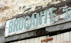 Brocante, somewhere along the way in France