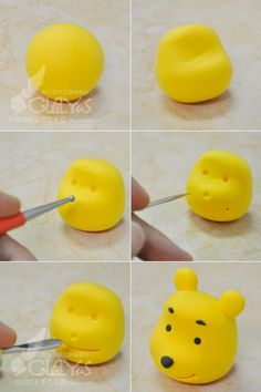 Winnie the Pooh WINNIE THE POOH clay head production methods