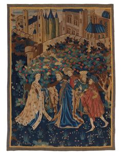 ab. 1420 Invitation to the castle, tapestry, Paris