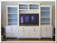 Elegant Media Cabinet Makeover Painting Back Of Shelf Walls