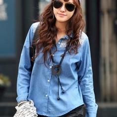 denim dress shirt-