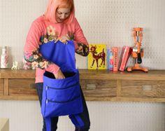 Blue Canvas Backpack, School Bag, Laptop Bag, Handmade Smart Fabric Backpack, College Bag, Office Bag, For Him / For Her, Back to School -    Edit Listing  - Etsy