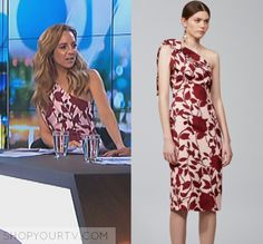 The Project: May 2017 Carrie's Pink Floral Dress Pink Floral Dress, Carrie, Carry On, Floral Prints, One Shoulder, Tv, Formal Dresses, Dark, Projects