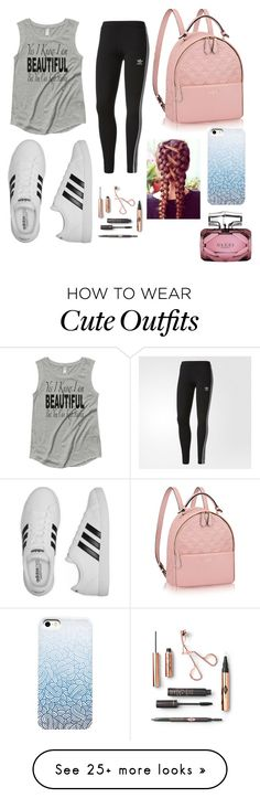 """Cute rushed outfit for going out with friends"" by xclaudialeighx on Polyvore featuring adidas and Gucci"