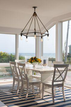 coastal dining room | Whitten Architects + Hurlbutt Designs