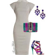 Simple Yet Colorful! by terra-glam on Polyvore featuring polyvore moda style Rick Owens GEDEBE Oscar de la Renta Brian Atwood