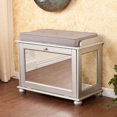 FREE SHIPPING! Shop Joss & Main for your Chelsea Mirrored Storage Bench. Add a touch of modern elegance to your home with this mirrored shoe bench. This versatile piece can adapt to any surrounding, yet is bound to stand out beautifully.