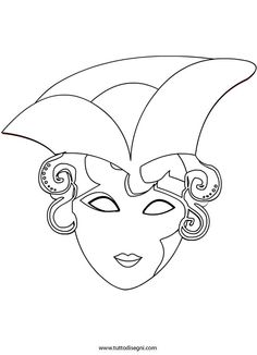 Maschera Veneziana da colorare - TuttoDisegni.com