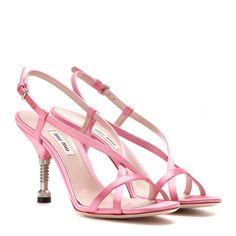 Miu Miu Satin Sandals (2 295 SEK) ❤ liked on Polyvore
