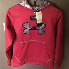 Youth size sweatshirt Red with Camo accents youth sweatshirt Under Armour Tops Sweatshirts & Hoodies